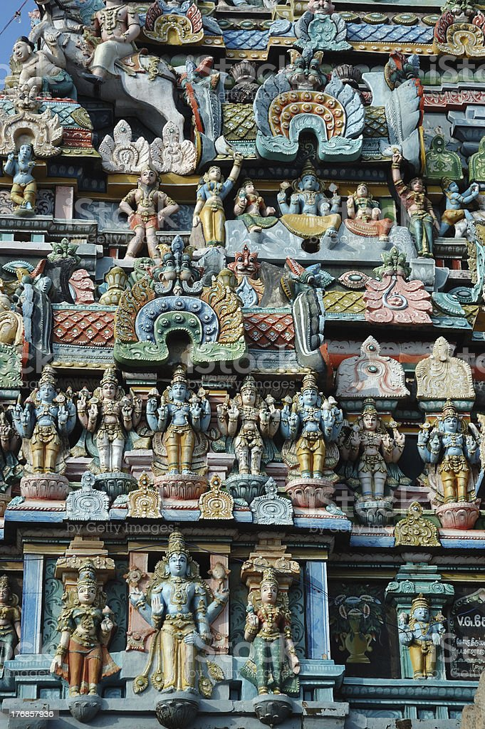 Hindu Srirangam Temple in Trichy,India stock photo