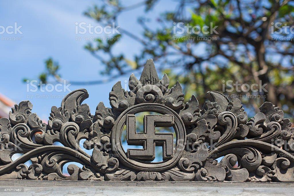 Hindu Swastika stock photo