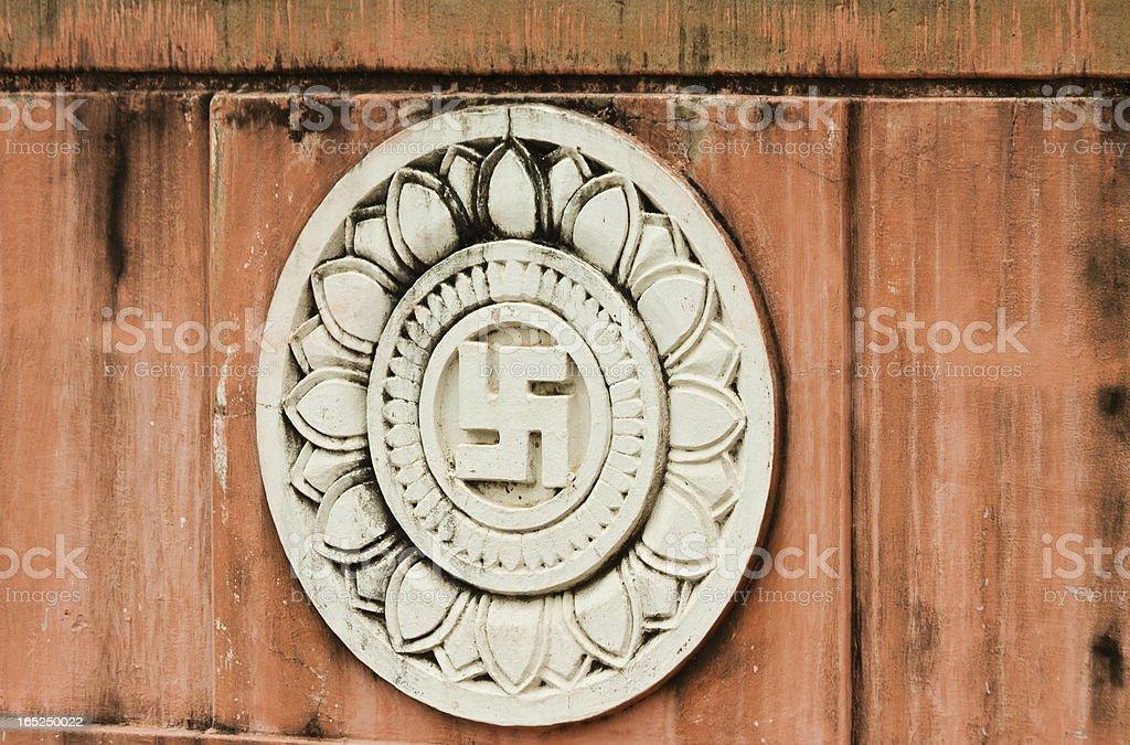 Hindu Swastika Symbol stock photo