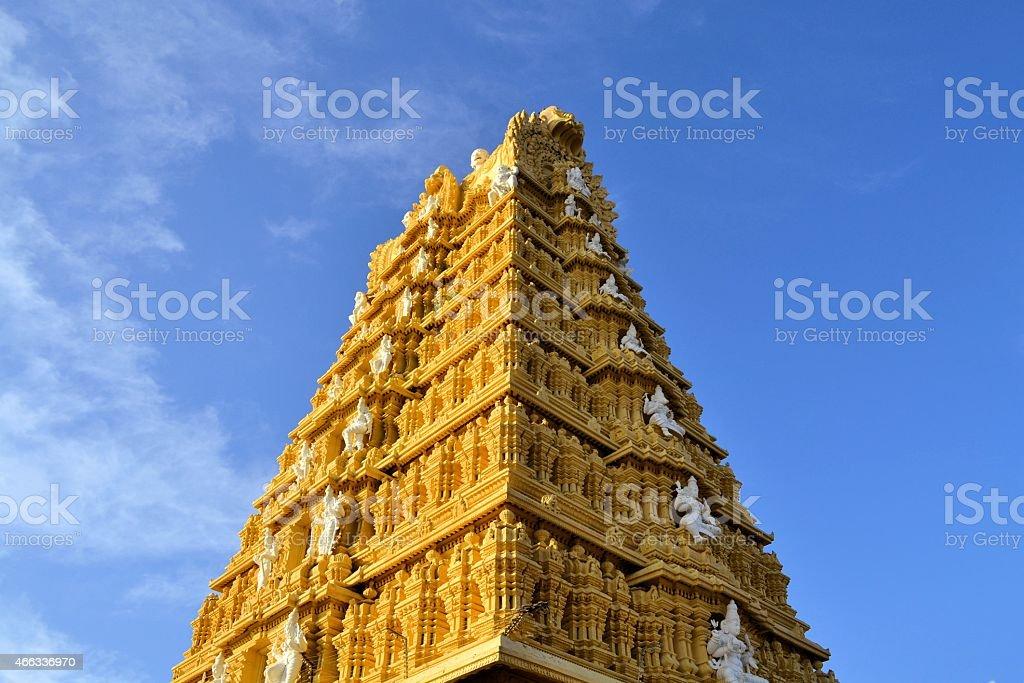 Hindu Temple at Chamundi Hills in Mysore, India stock photo