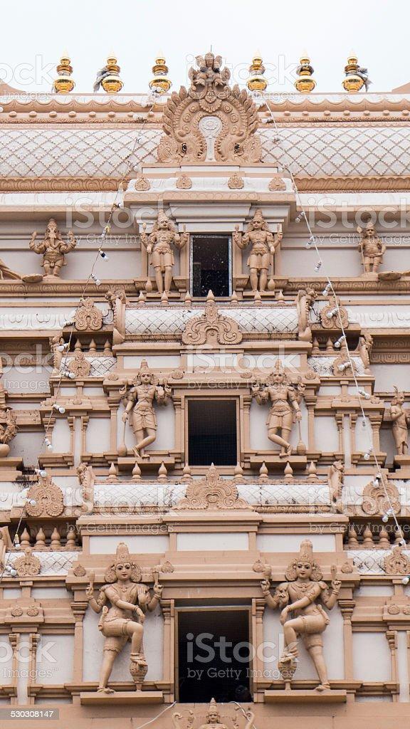 Hindu Temple at Mays Hill, NSW stock photo