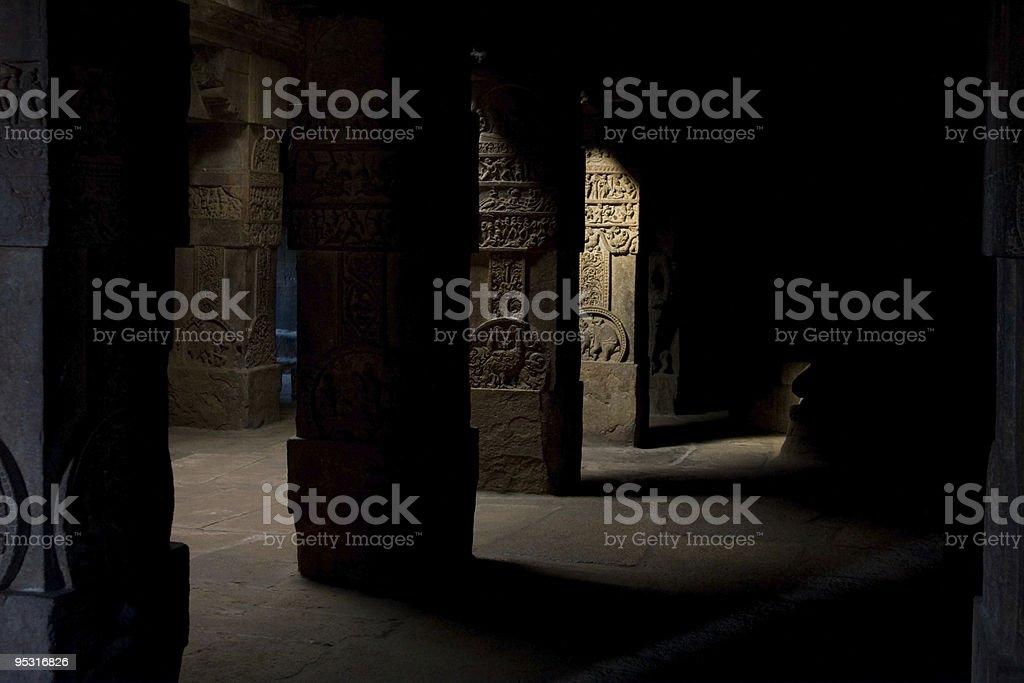 Hindu temple columns royalty-free stock photo