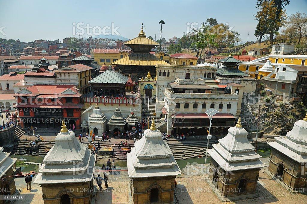 Hindu temple dedicated to Pashupatinath in Kathmandu, Nepal. stock photo
