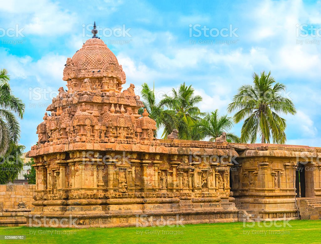 Hindu Temple dedicated to Shiva, ancient Gangaikonda Cholapuram stock photo