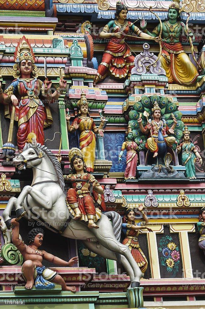 Hindu temple  facade royalty-free stock photo