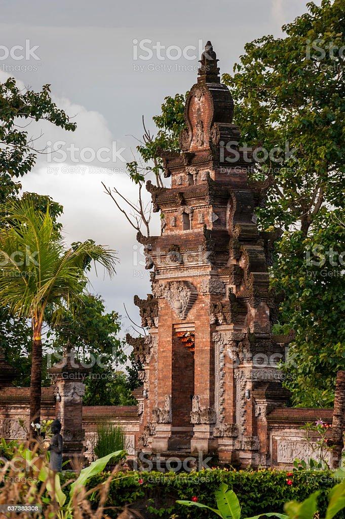 Hindu Temple Gate, Sidemen, Bali, Indonesia stock photo