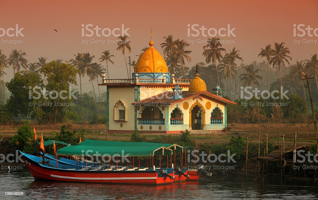 Hindu Temple in Goa royalty-free stock photo