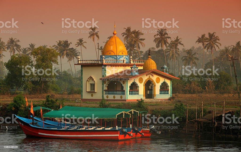 Hindu Temple in Goa stock photo
