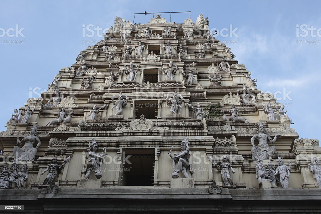 Hindu temple in India royalty-free stock photo