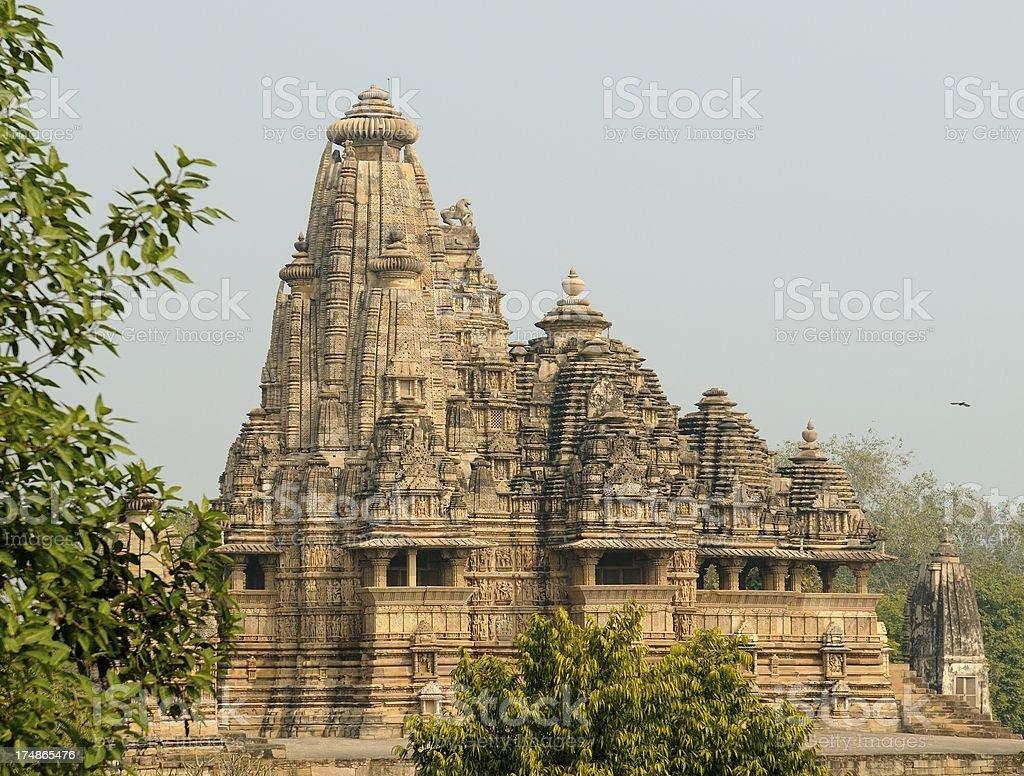 Hindu Temple in Khujaraho royalty-free stock photo