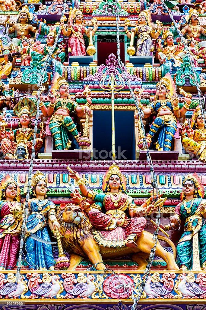 Hindu Temple in Little India, Singapore stock photo