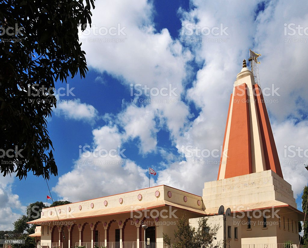 Hindu Temple in Lusaka, Zambia stock photo