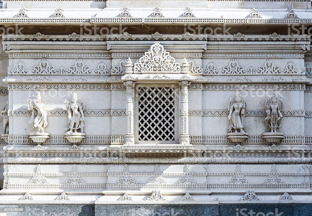 Hindu Temple in Neasden London stock photo