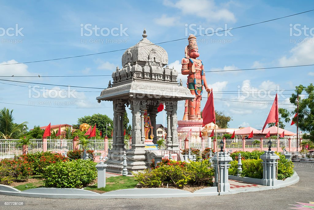 Hindu temple in Trinidad stock photo