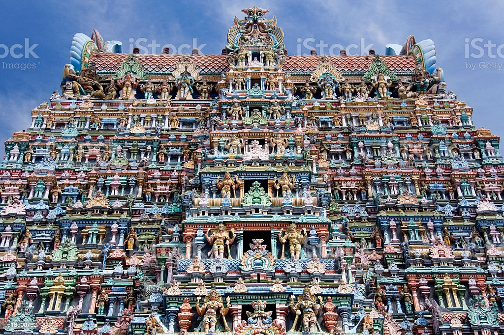 Hindu Temple - Madurai - India stock photo