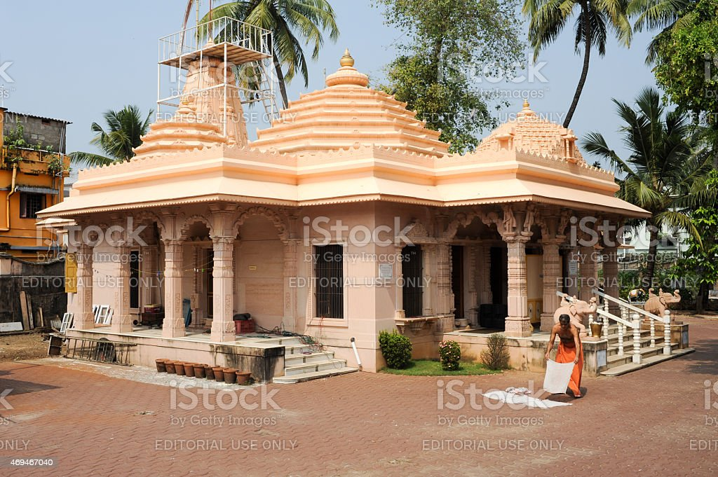 Hindu temple of Jain at Fort Cochin stock photo