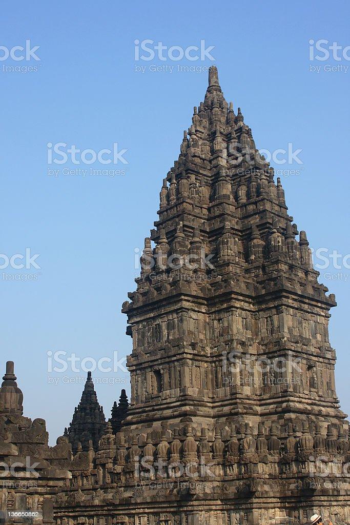 Hindu temple Prambanan stock photo