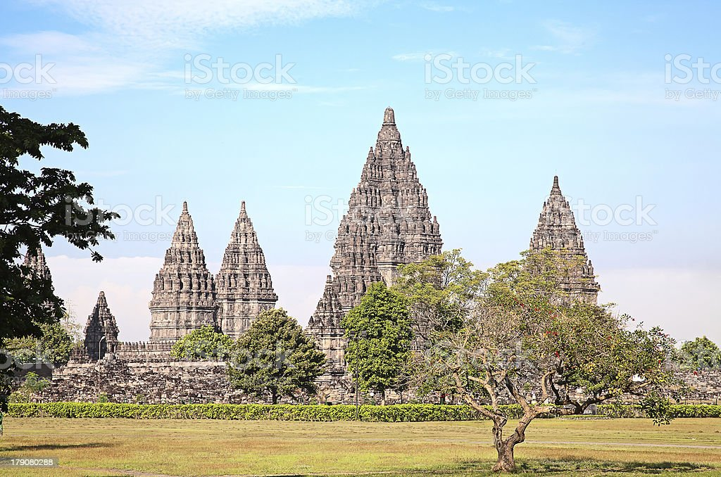 Hindu temple Prambanan royalty-free stock photo