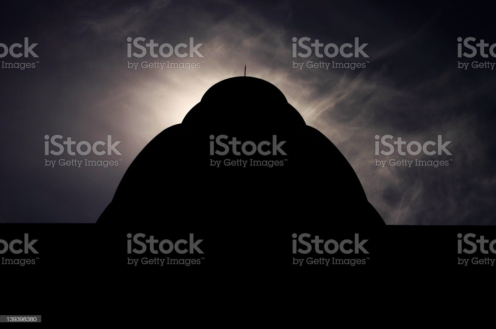 hindu temple silhouette royalty-free stock photo