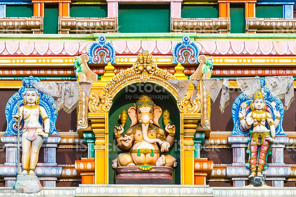 Hindu Temple Sri Lanka stock photo
