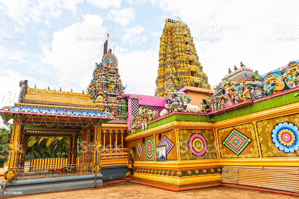 Hindu temple Sri Muthumariamman Thevasthanam at Matale stock photo