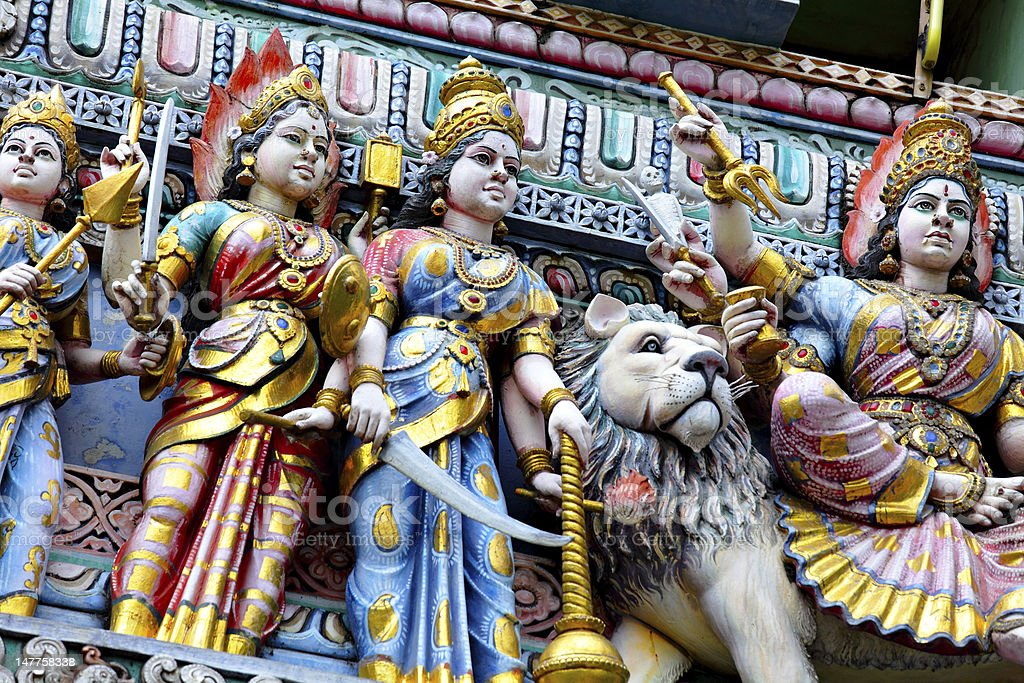 hindu temple statue royalty-free stock photo