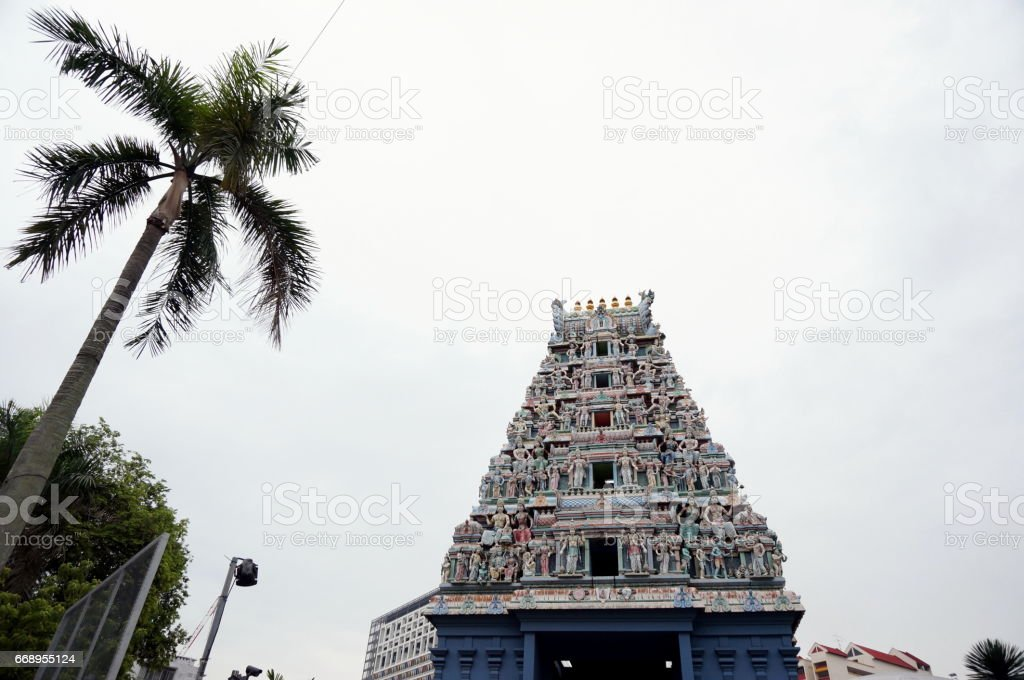 Hindu temple view stock photo