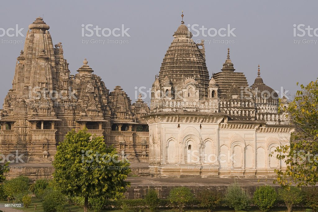 Hindu Temples at Khajuraho royalty-free stock photo