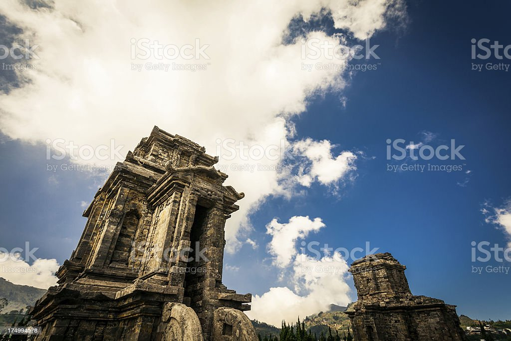Hindu Temples in Java, Indonesia royalty-free stock photo