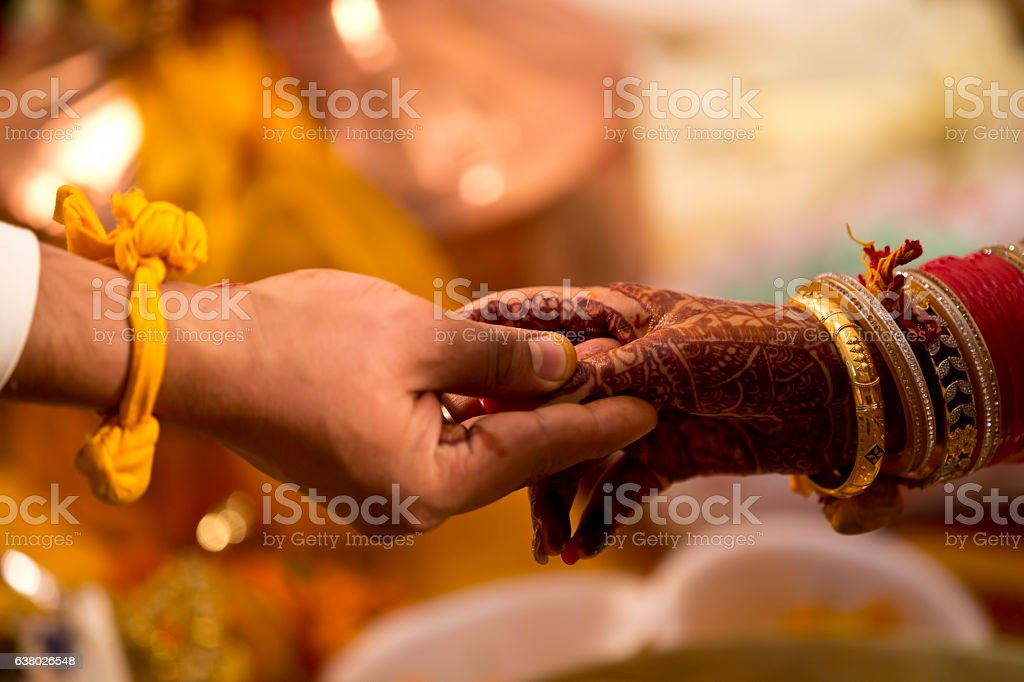 Hindu wedding ceremony stock photo