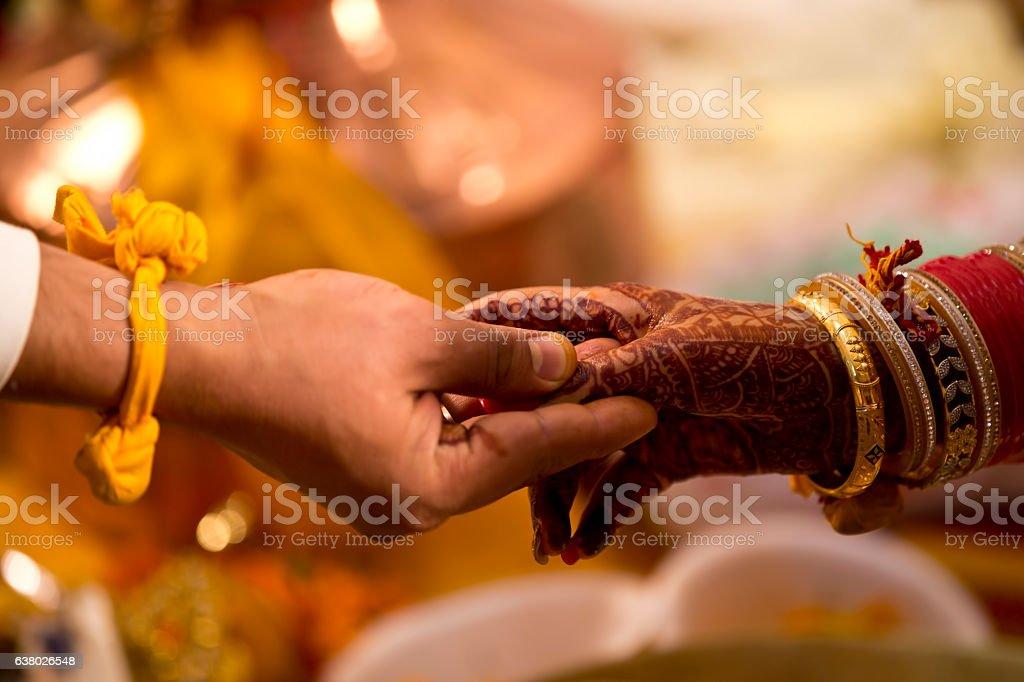 Hindu wedding ceremony stock photo