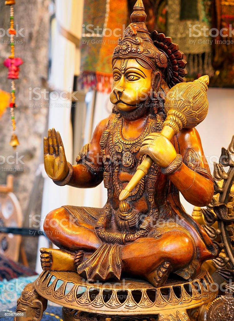 Hinduism. Seated Hanuman stock photo