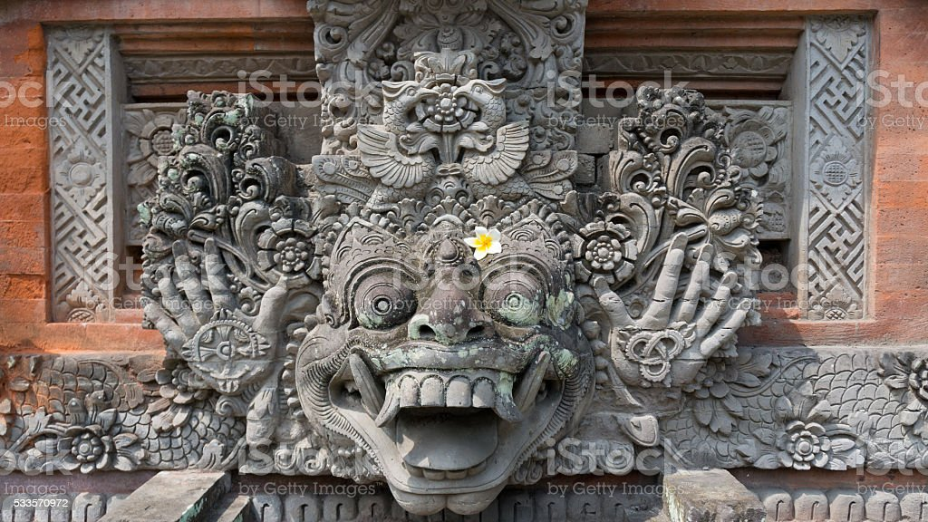 Hinduism: Statue Decorated with Beautiful Flower stock photo