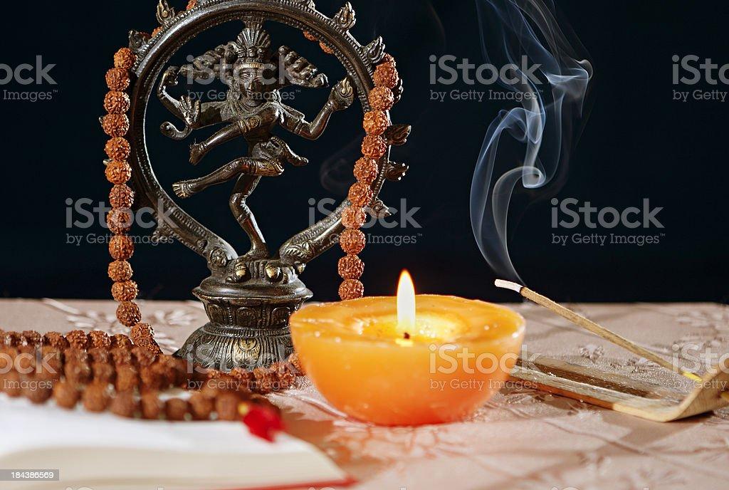Hinduism symbols stock photo