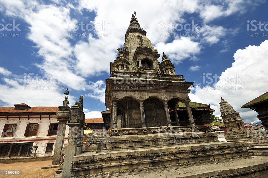 Hinduism Temple Nepal Dubar Square royalty-free stock photo