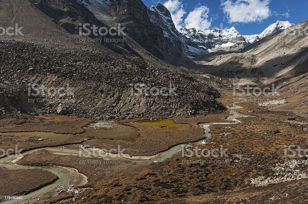 Hingu valley wilderness Himalayas Nepal stock photo