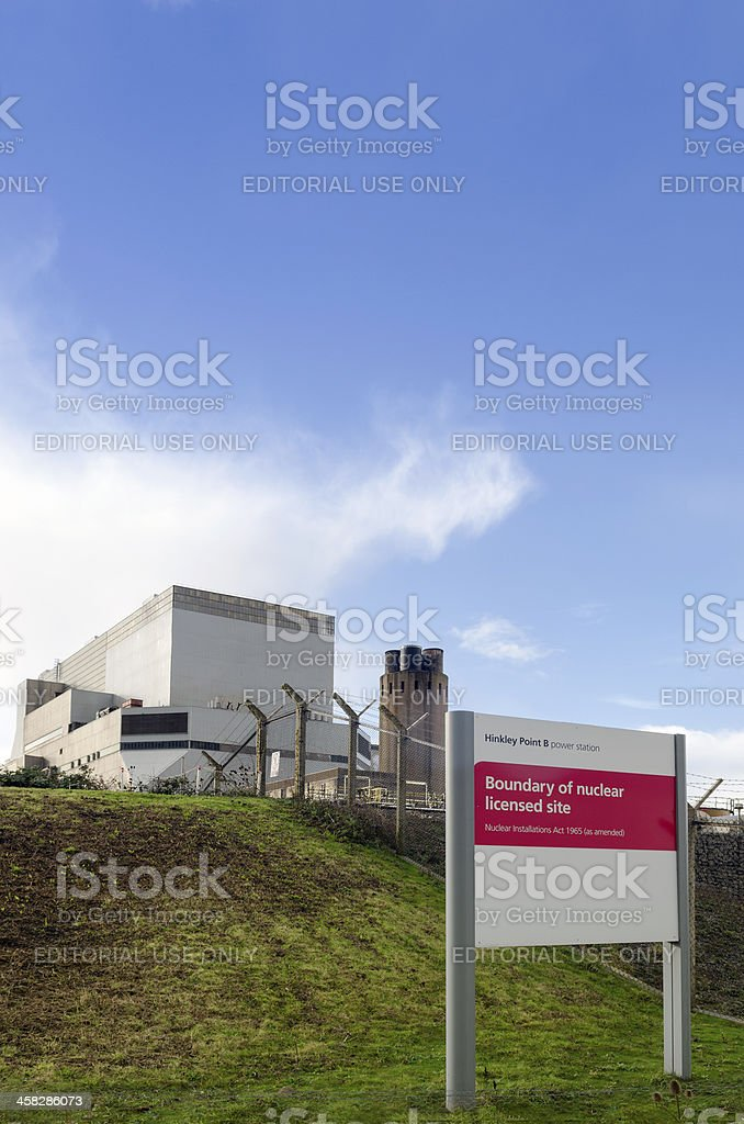 Hinkley Point B Nuclear power station, Somerset, United Kingdom royalty-free stock photo