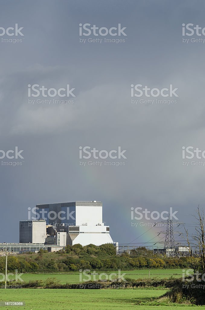 Hinkley Point Nuclear power station royalty-free stock photo