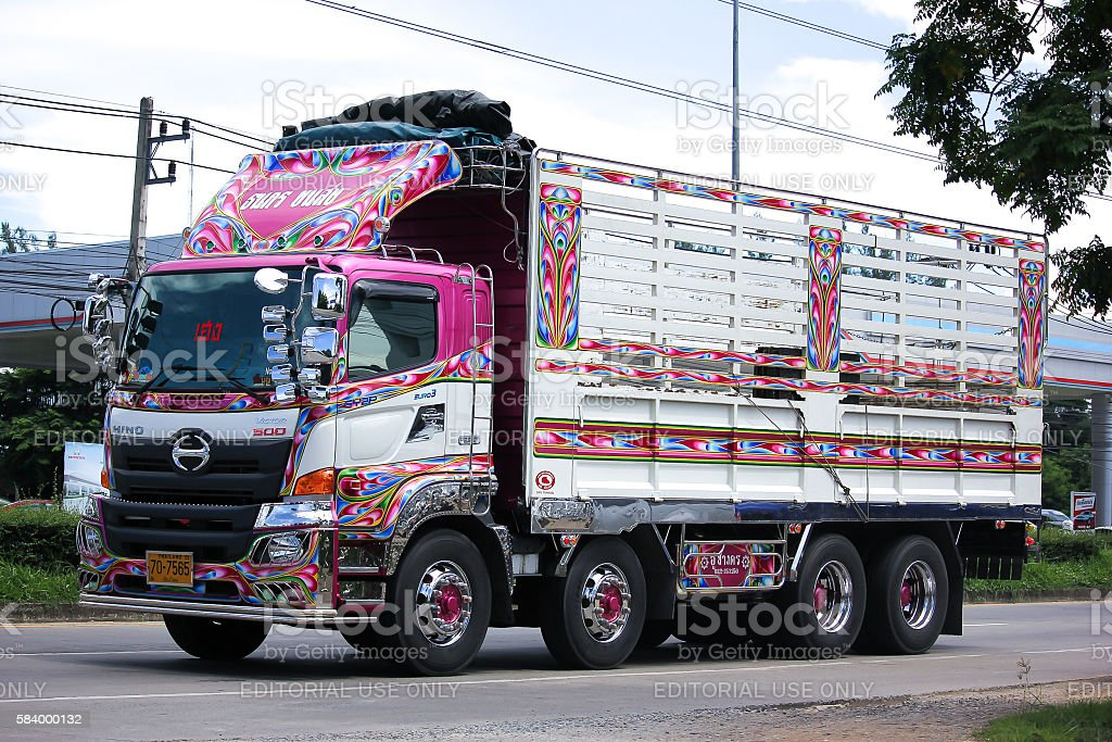 Hino Truck of ThanaKron Transport. stock photo
