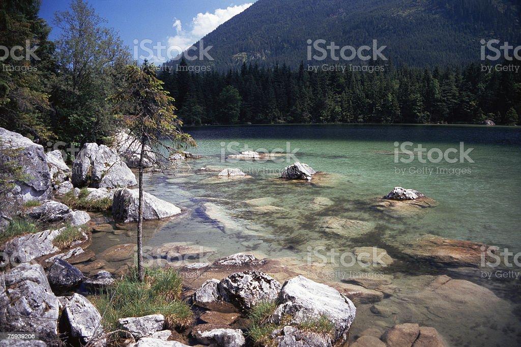 Hinter lake stock photo
