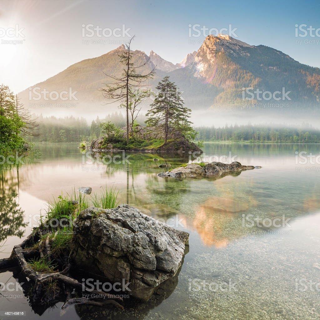 Hintersee  Bavarian in Berchtesgaden National Park stock photo