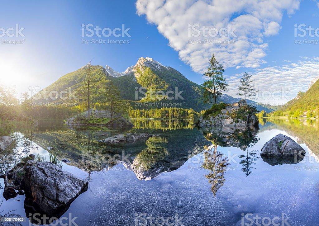 Hintersee - Bavarian lake in Berchtesgaden National Park stock photo