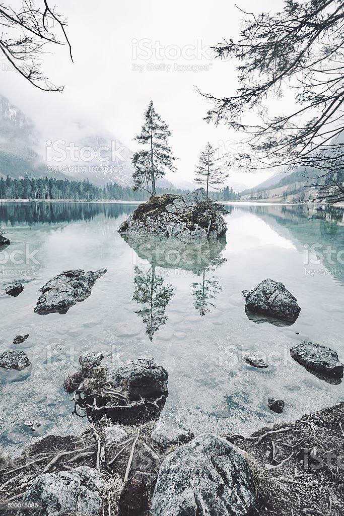 Hintersee lake landscape stock photo