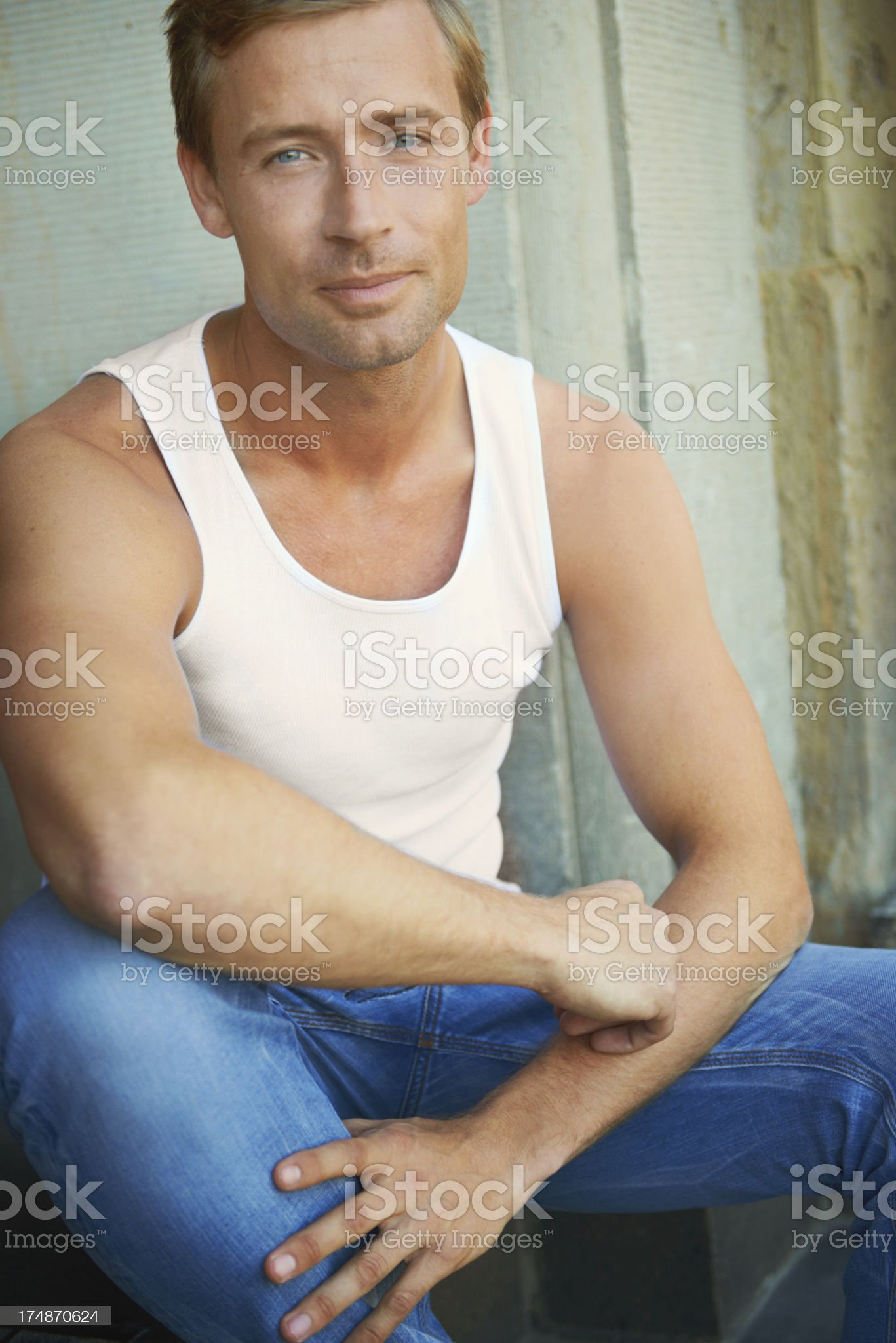 Hip and handsome royalty-free stock photo