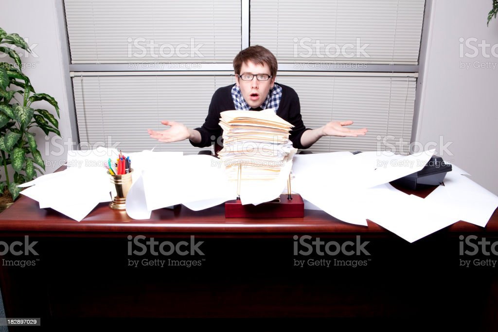 Hip Business Man Confused royalty-free stock photo
