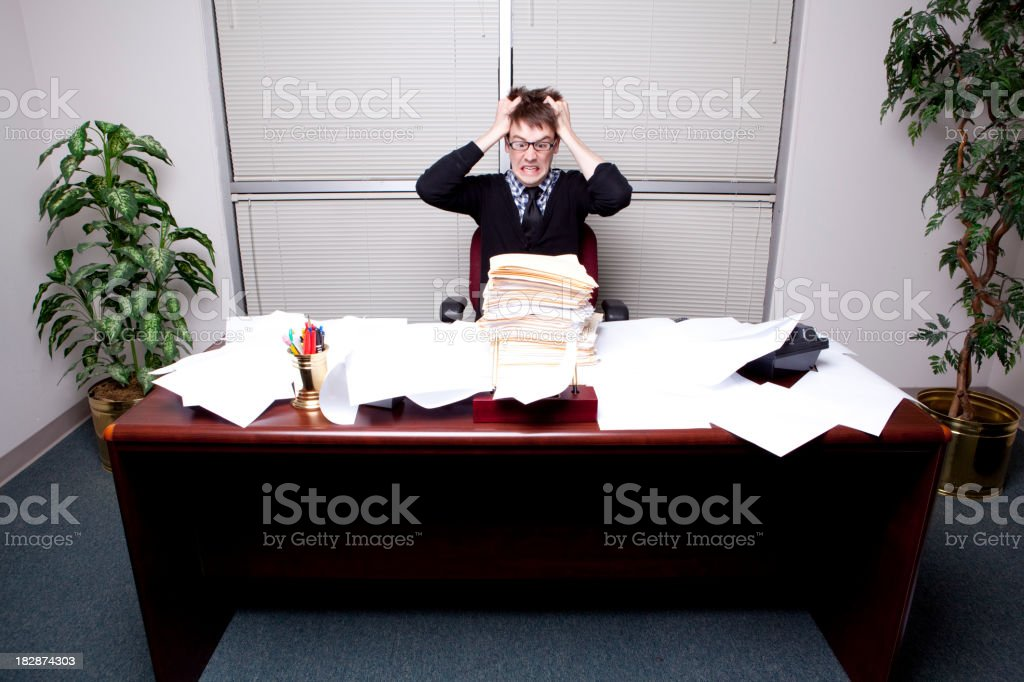 Hip Business Man with Stressful Life royalty-free stock photo