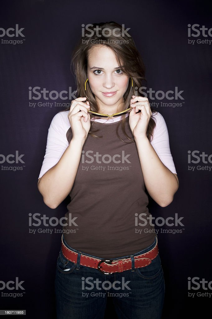 Hip Girl with Sunglasses royalty-free stock photo