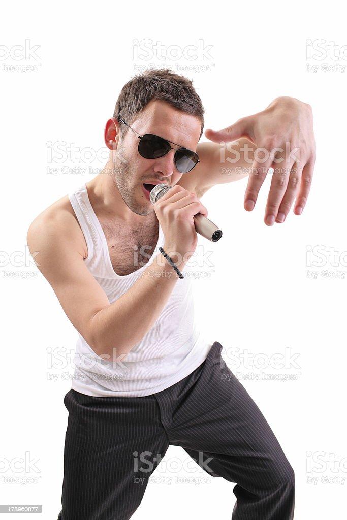 Hip hop artist royalty-free stock photo