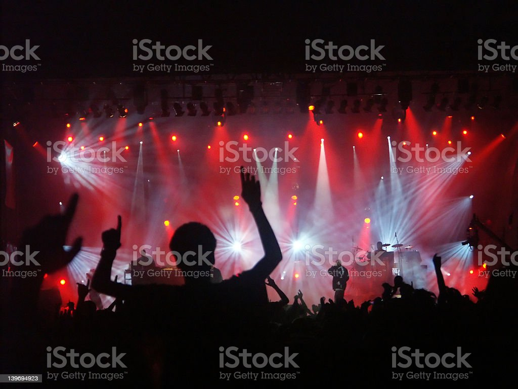 Hip hop concert royalty-free stock photo