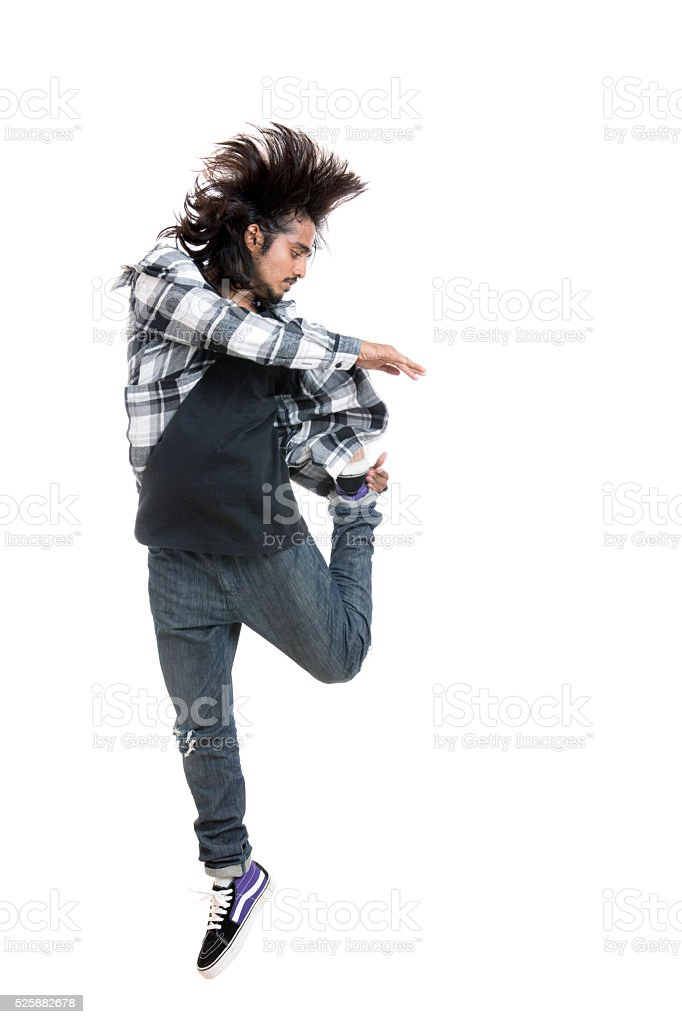 Hip hop dancer dancing stock photo
